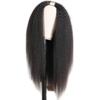 kinky straight u part human hair wig