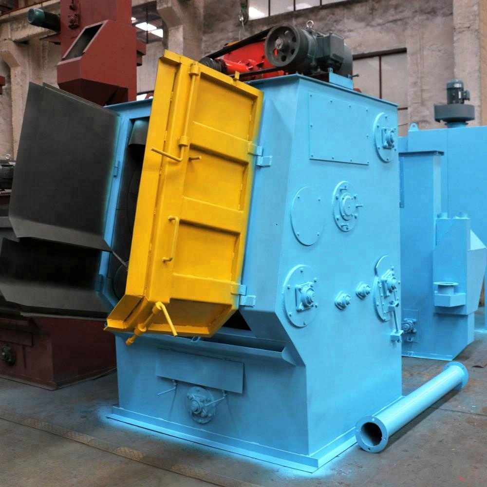 custom manufacturing/ Q32 series Automatic Continuous Tumble Belt Sand Shot Blasting Machine for Small Castings