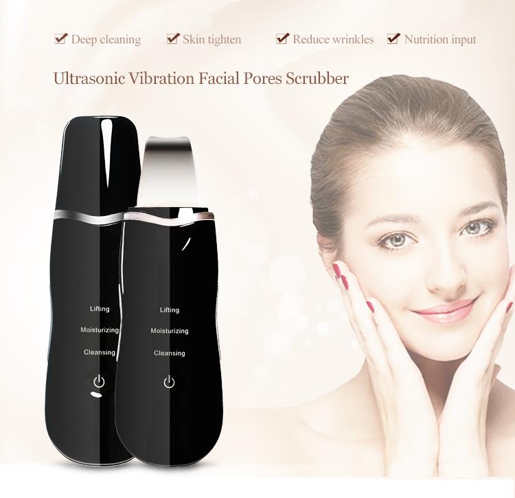 M 2020 портативная отшелушивающая щетка для лица очиститель для лица перезаряжаемый ультразвуковой скруббер для кожи лица шпатель Портативный пилинг скруббер