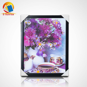 3d lenticular pictures of beautiful flowers 3D landscape paintings for home decoration