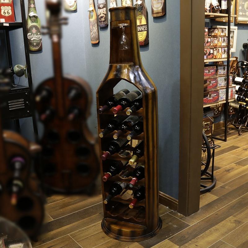 Европейский стиль большой шкаф 123 см винный бутылка воды из нержавеющей стали, часы 6-ти слойная деревянистая винный шкаф