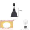 El single rail - paint black - 7W - warm bulb