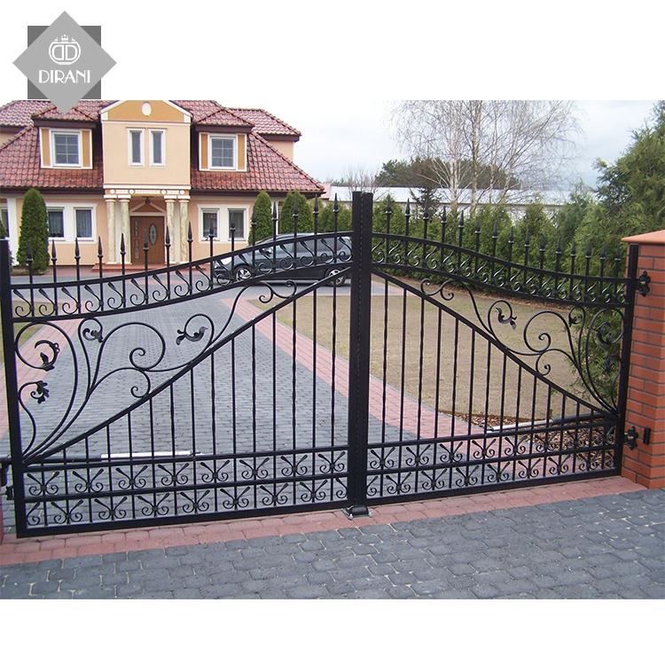Современный дом, кованые железные главные ворота, простой дизайн, индивидуальный большой дом, Передние ворота