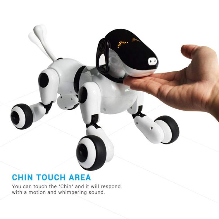 Программируемый Интеллектуальный робот-собака с сенсорным датчиком и голосовым управлением через приложение