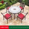21-4 JL chair 1 white ceramic tile AL frame table 100cm