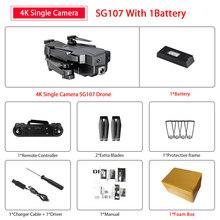 ZWN SG107 мини-Дрон с 4K Wi-Fi FPV HD двойной камерой Квадрокоптер оптический поток Rc Дрон жестовое управление детская игрушка VS E58 E68 SG106(Китай)