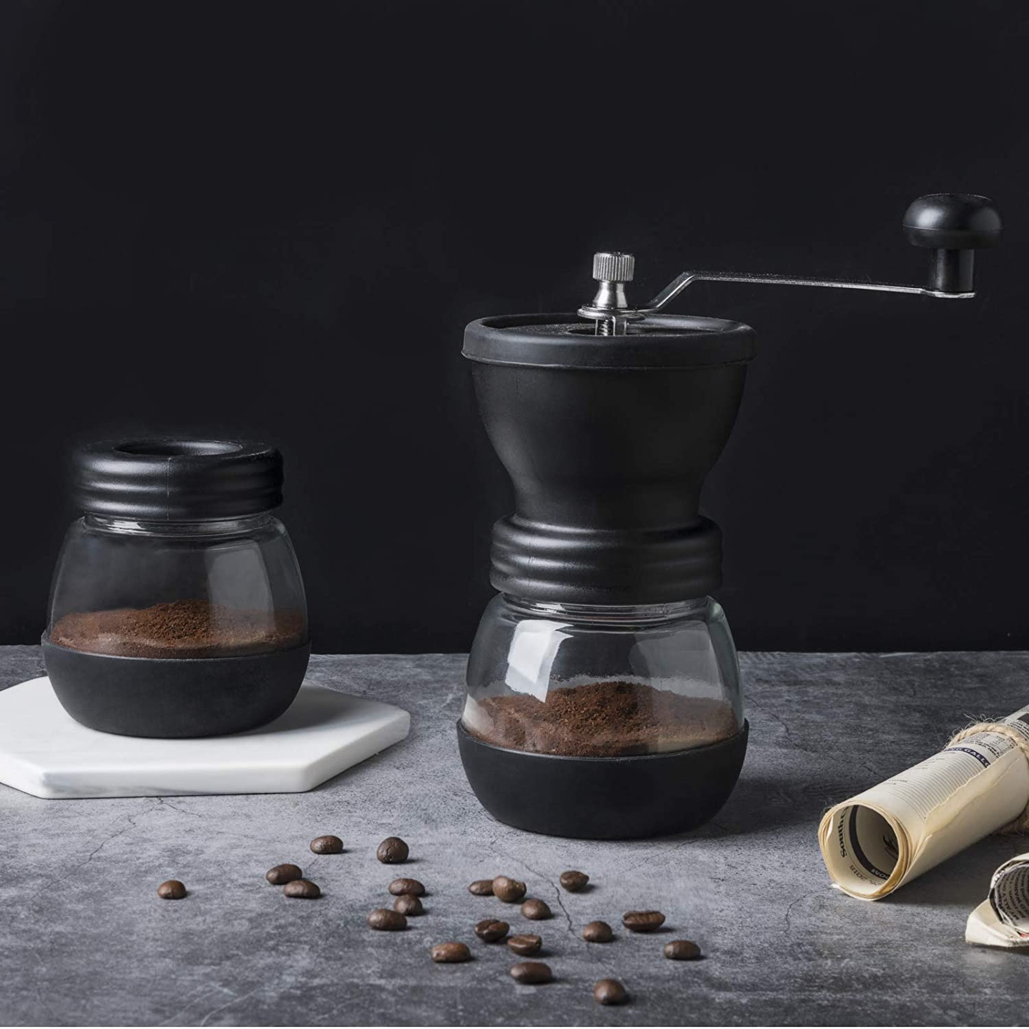 Home Commercial Italian Hand Ceramic Burr Portable Espresso Manual Maker Industrial Unlimited adjustable Mill Coffee Grinder
