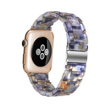 Ремешок из смолы для часов apple Watch 5 4 band 42 мм 38 мм correa прозрачная сталь для iwatch series 5 4 3/2/1 ремешок для часов 44 мм 40 мм(Китай)