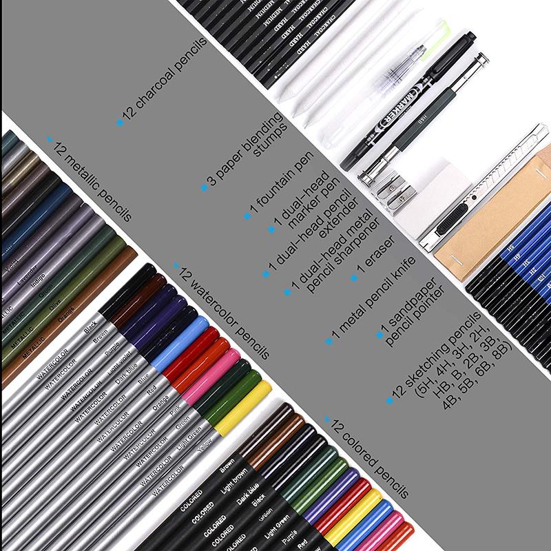 71 шт металлик Цвет эскиз акварель цветной карандаш в комплекте эскиз набор для рисования