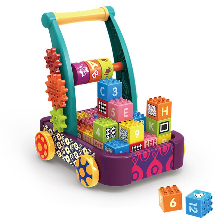 Free sample handcart 12PCS plastic building blocks toys for kids