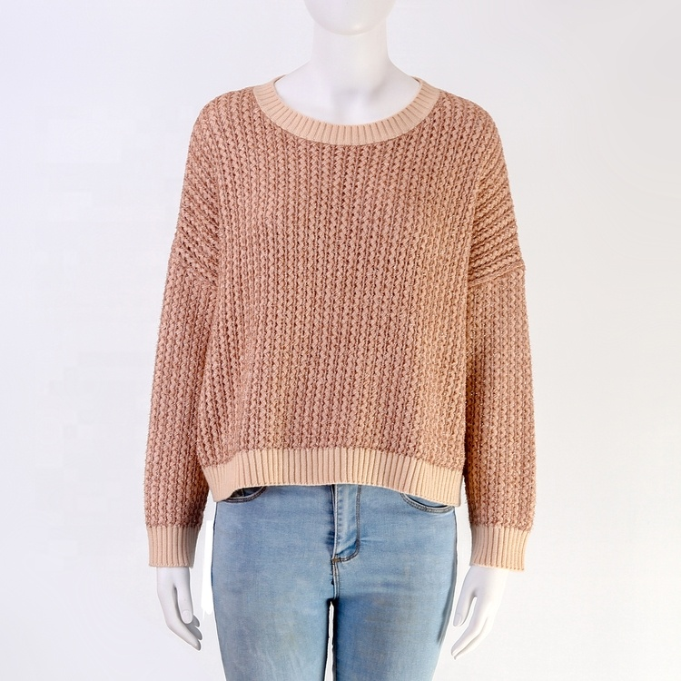 High quality hot sale fashion winter round neck long sleeve pullover top