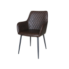 Nordic Modern Luxury Design Furniture PU Dining Chair With Arms Rest For Kitchen Dinning Room