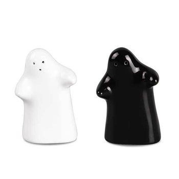 Custom special condiment set salt and pepper shaker love hugs and kisses ceramic cruet set