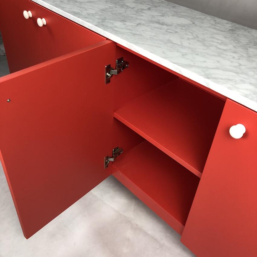 Подставка под телевизор с красным мрамором для гостиной спальни