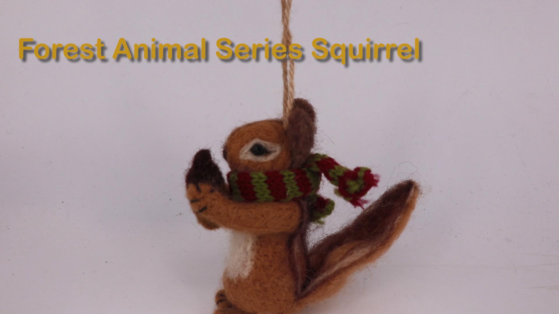2017 new handmade woolen christmas animals ornaments