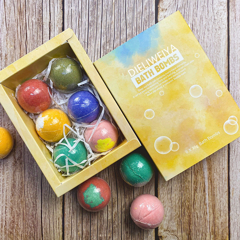 Handmade Organic Shea Butter Vegan Box Mold Bath Melts Natural Fizzy Bubble Bath bombs For Spa Gift Set