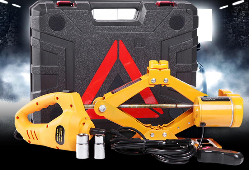 Hot Sale Electric Car Jack Scissor Lift Set Portable 12V DC Electric Hydraulic Car Floor Jack And Wrench With Air Pump And LED