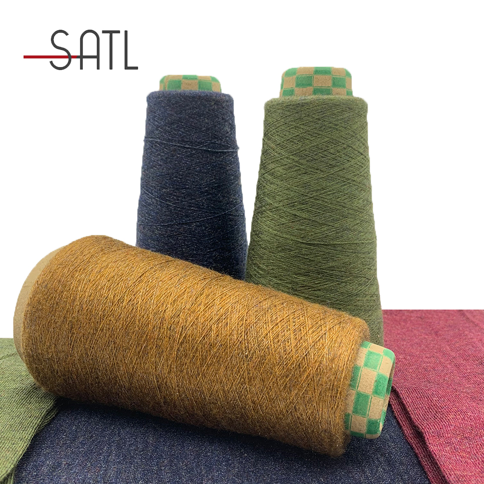 New Design 2/48nm 49%Viscose 28%PBT 20%Nylon 3%Lurex Core Spun Blended Yarn