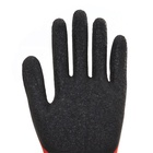 Gloves 13G Polyester Liner With Latex Palm Coated Crinkle Finished Work Latex Safety Gloves