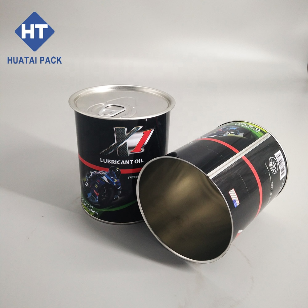 800ml motor oil motorcycle oil tin can round can half easy open end