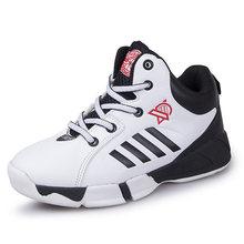 Баскетбольная обувь для мальчиков с высоким берцем, кроссовки для баскетбола, дышащие кроссовки для баскетбола с противоскользящей подошв...(Китай)