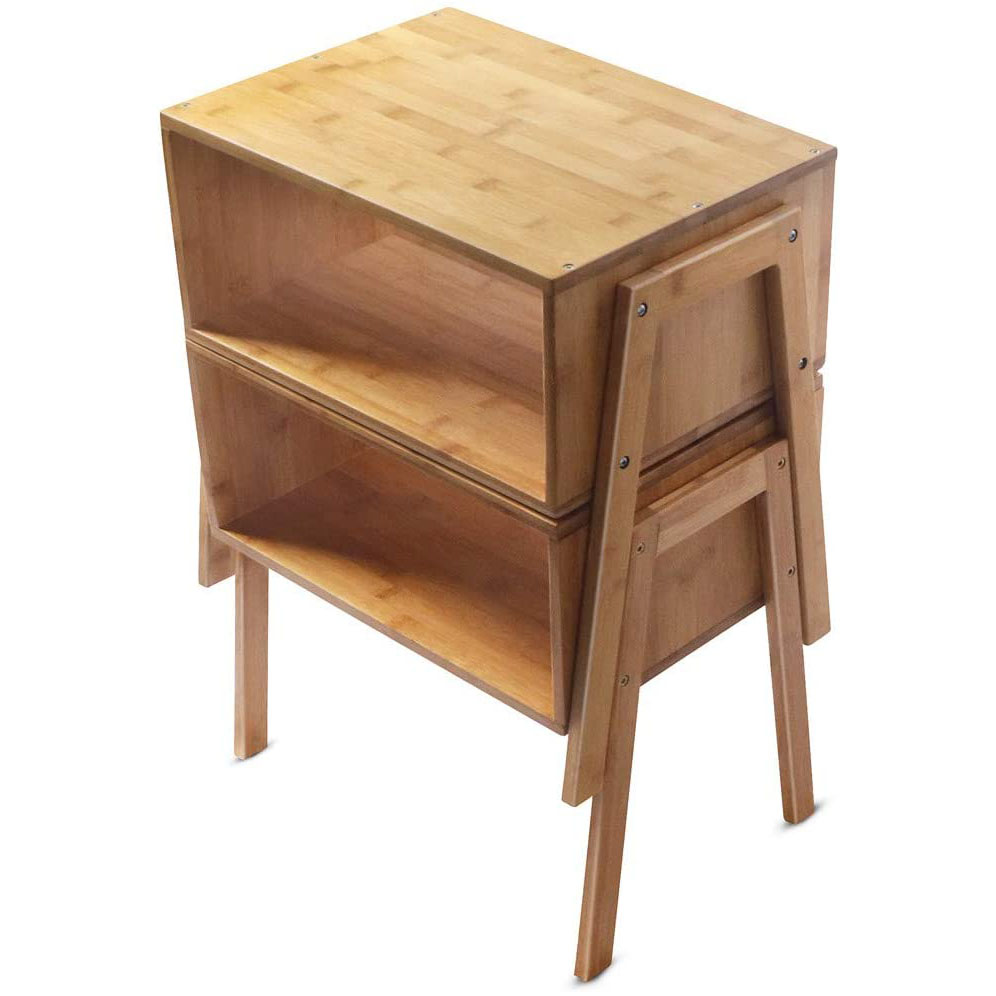 Превосходное мастерство и большие отсеки для хранения, штабелируемые бамбуковые прикроватные столики