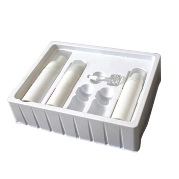 Custom Vacuum Forming Cosmetic Plastic Flocking Blister Packaging Tray