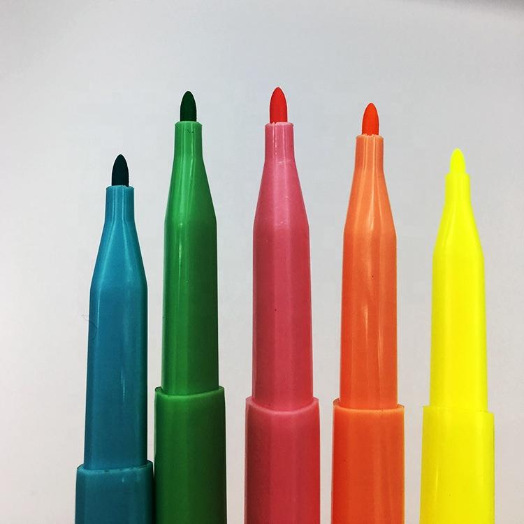 Рекламная треугольная двойная маркировочная ручка с зубчатым наконечником