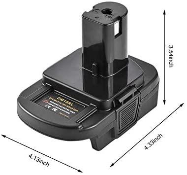 DM18RL Battery Adapter for Dewal for Milwauke 20V/18V Li-Ion Battery Convert to for Ryobi 18V P108 ABP1801 Battery