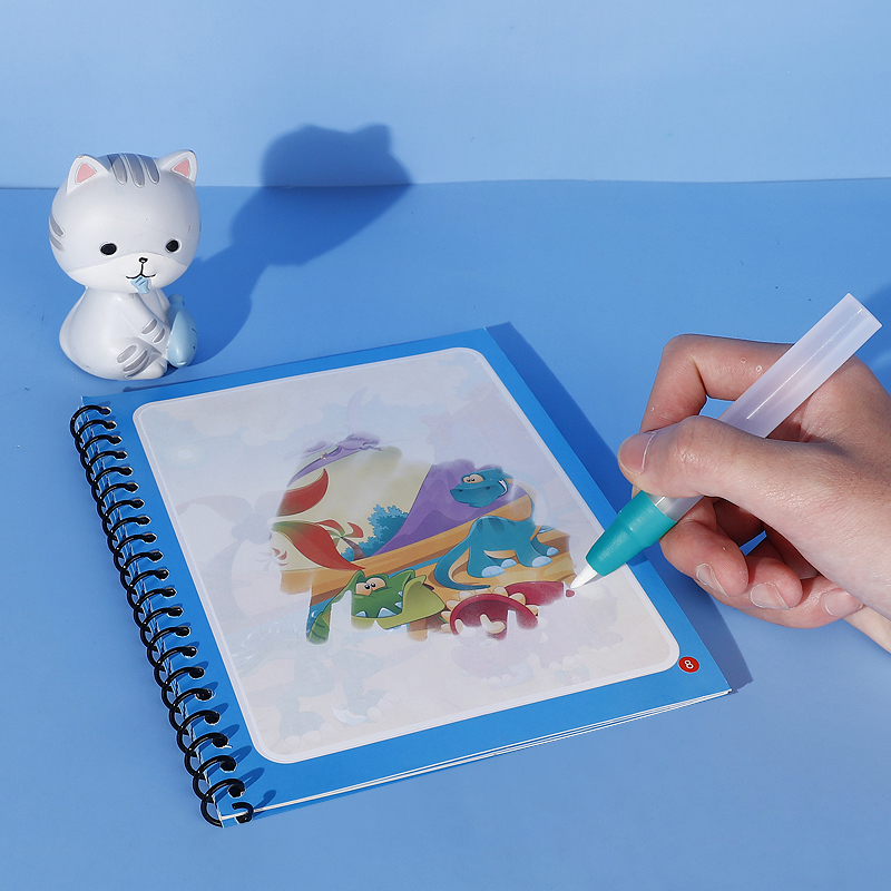 Tenwin T5640 Aquapaint Magical Books Toys 3 Year Old Boys Colouring Kids Writing Water Pen Painting Drawing Magic Coloring Book