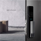 Door Lock Waterproof Tempered Glass Panel Hotel Room Intelligent Automatic Door Lock