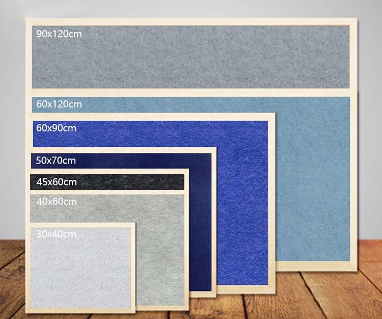 High quality rectangle wooden frame felt colored outdoor bulletin board - Yola WhiteBoard   szyola.net