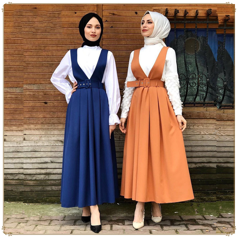 Vestidos Kaftan Abaya Turkey Muslim Dress Women Caftan Marocain Islamic  Clothing Strap Dress Summer Ramadan Long Skirt - Buy Islamic  Clothing,Muslim