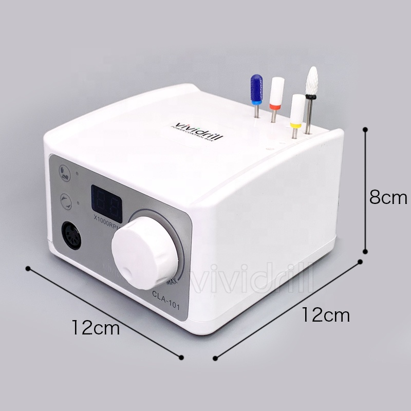 Высокоскоростной микромотор vividrill с ЖК-дисплеем, мощный аппарат для маникюра