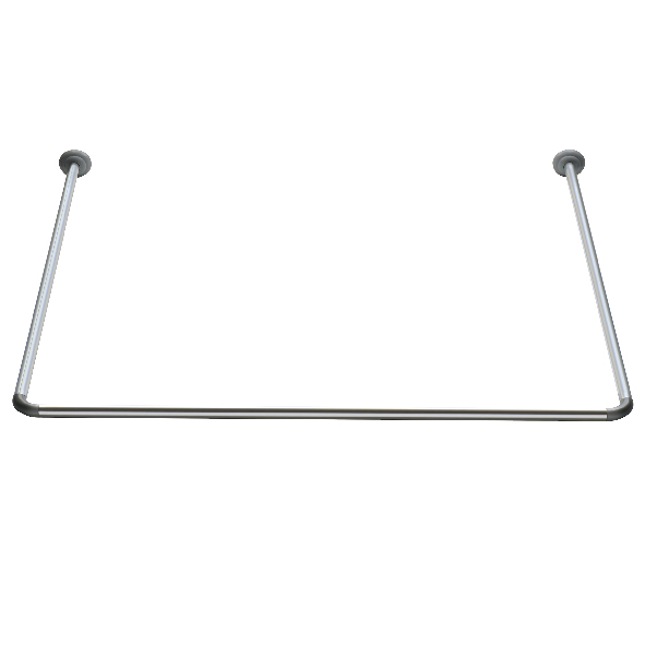 HIgh quality stainless steel U shape shower curtain rod 22-25mm aluminium shower curtain rod corner