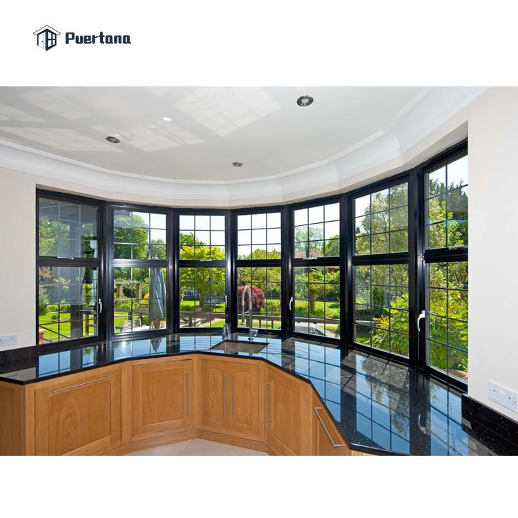 Алюминиевые окна для эркера, окна для продажи, алюминиевое окно с бантом, цена
