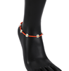 Orange-anklet