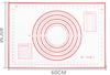 60x40cm-right ángulo rojo/negro