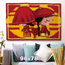 Набор крючков Smyrna, сделай сам, Европейский художественный гобелен с животными, набор для вязания крючком, декоративный настенный ковер, вин...(Китай)