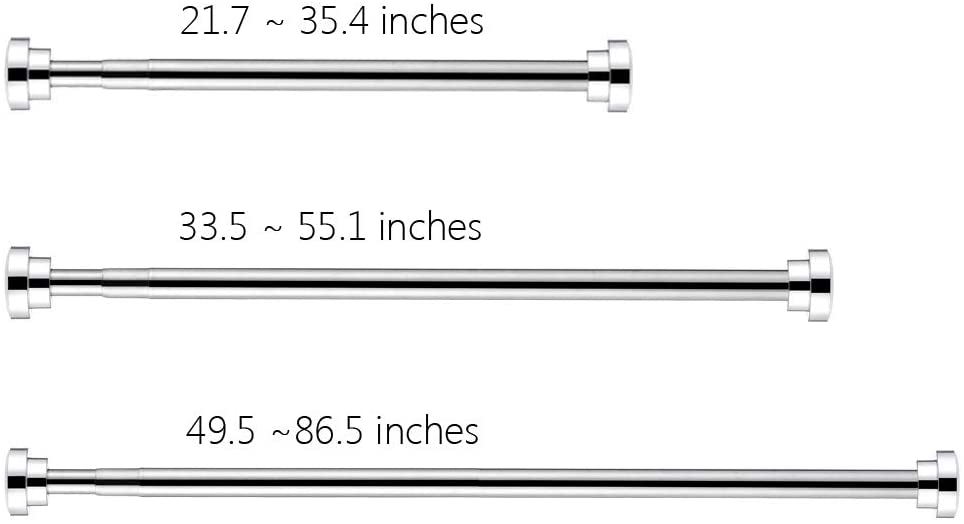 Premium Stainless Steel Adjustable Tension Spring Shower Curtain Rod