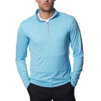 OEM Service High Quality Long Sleeve Mens Half Zip Golf Pullover