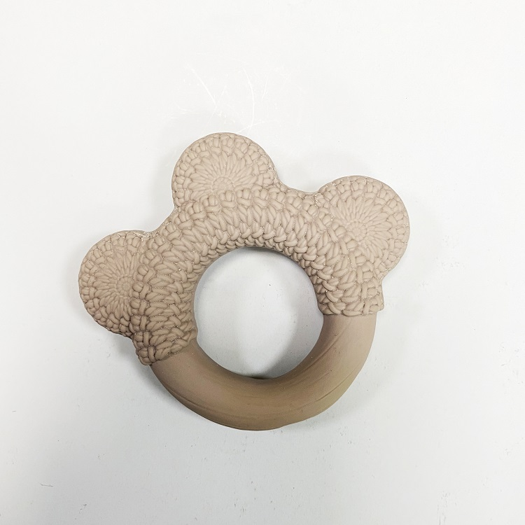 Teether Ring Natural Rubber Latex Baby Teething Toys Sensory  From Rubber Tree