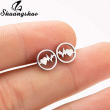 Shuangshuo маленькие серьги-гвоздики из нержавеющей стали для женщин ювелирные изделия аксессуары крошечные серьги геометрической формы пары п...(Китай)