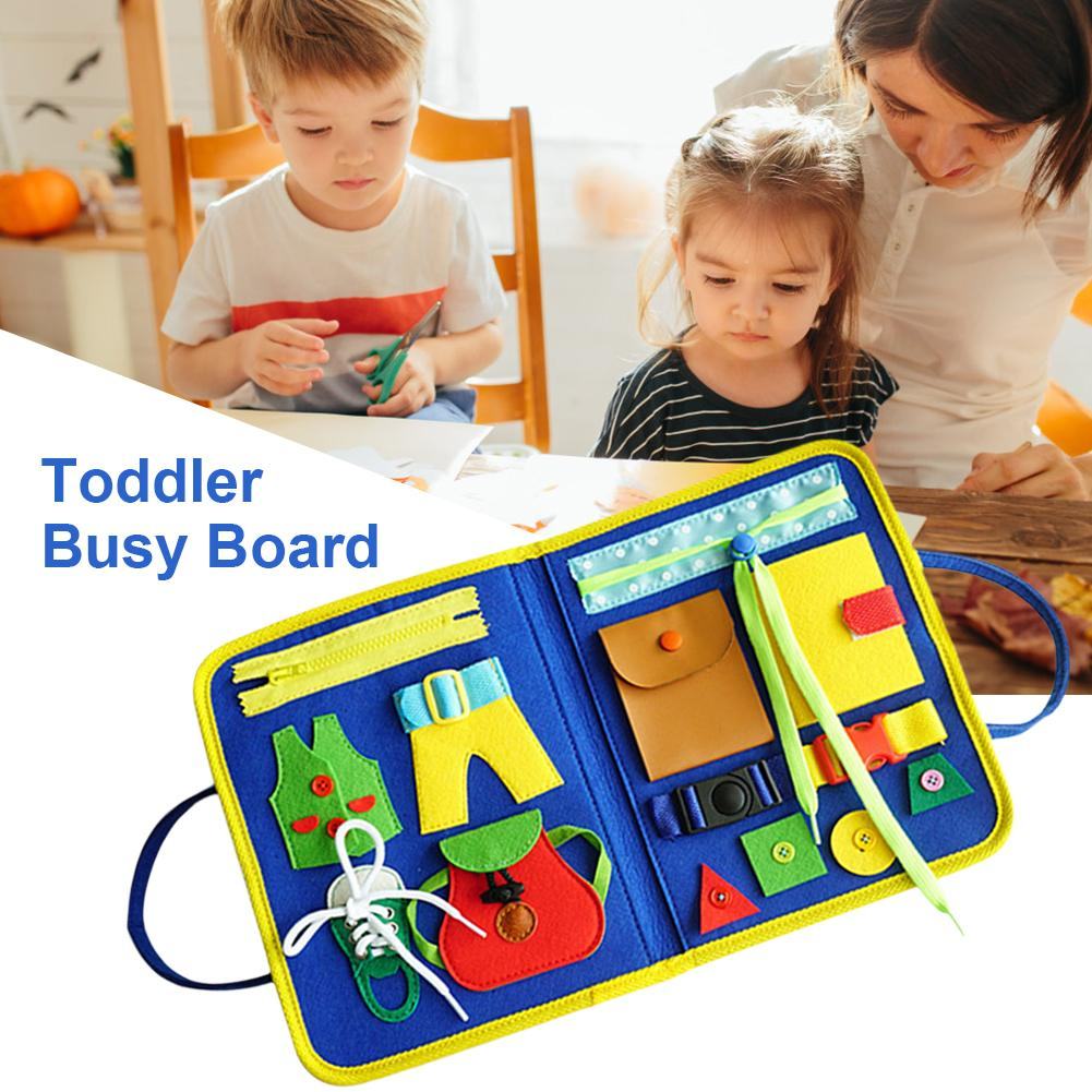Toddler BusyBoard Basic Skills Learning Activity Board Educational Learning Toy