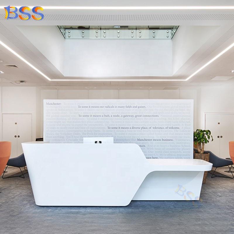 Современная Больничная медицинская стоматологическая клиника, Офисная белая стойка регистрации