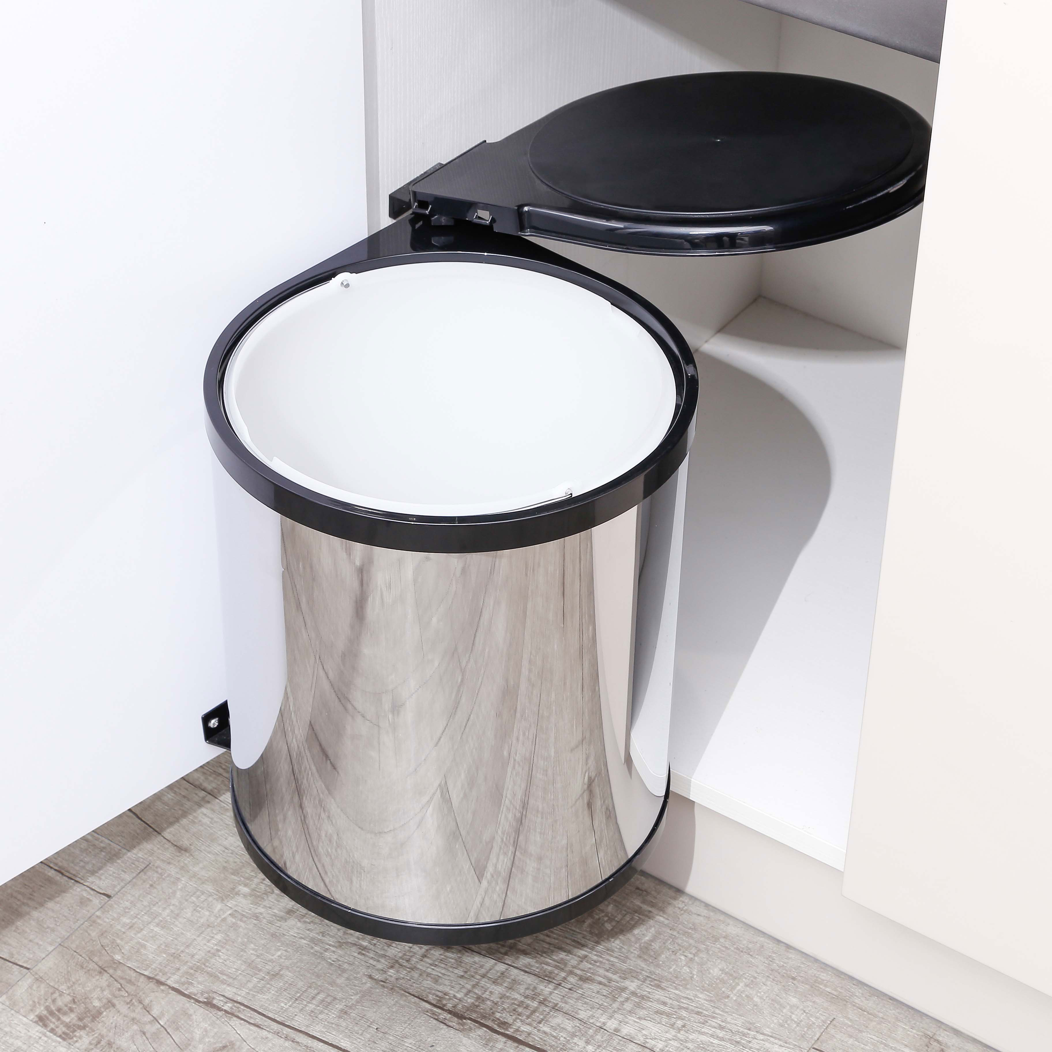 Kitchen Under Sink Trash Can Lid Pivot Pull Out Waste Container Buy Sink Trash Can Pull Out Waste Container Stainless Steel Under Sink Trash Can Product On Alibaba Com