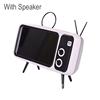 sliver phone holder with speaker