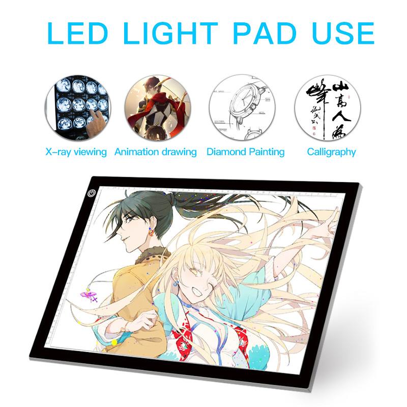 Лидер продаж на Amazon, Светодиодная доска для рисования, копия изображения a3, лайтбокс, 3d планшет для рисования