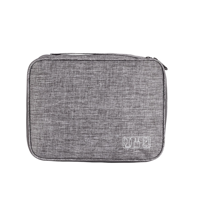 Double Layer Portable Travel Electronic Accessories Organizer Storage bag