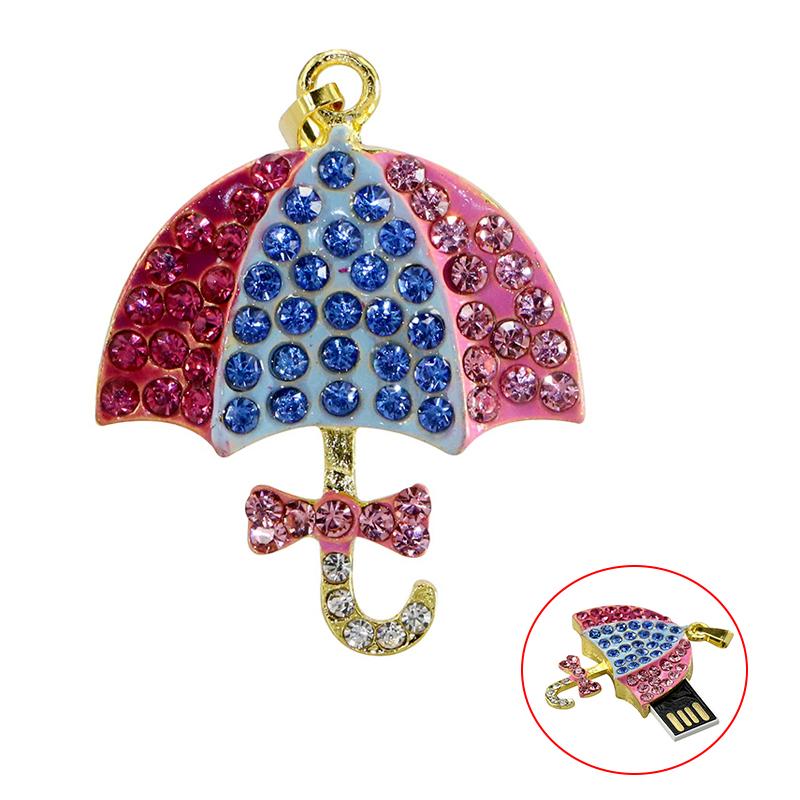Umbrella USB Flash Drive 1TB 128 64 32 8 4 16 gb Pendrive Necklace New Pen drive Memory Stick 32GB U Disk Mini Gift - USBSKY   USBSKY.NET